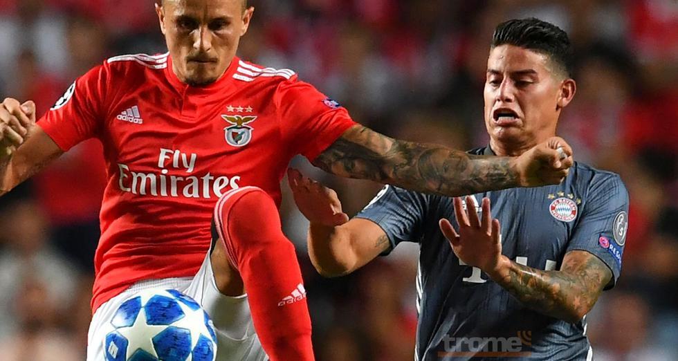 James Rodriguez  provocó a los hinchas de Benfica con este gesto poco agradable.
