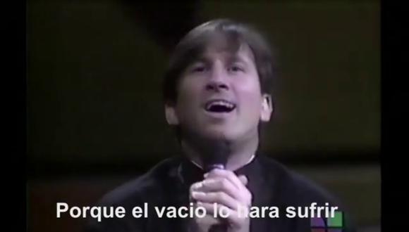 "Un video viral tiene como protagonista a Lionel Messi cantando ""Me va a extrañar"" como si fuera Ricardo Montaner.   Crédito: @deepfakear / Instagram."