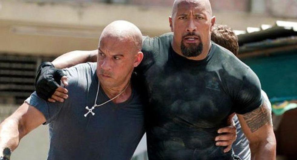 """Vin Diesel y """"La roca"""" grabaron """"Fast and Furios 8"""" (Foto: Universal Pictures)"""