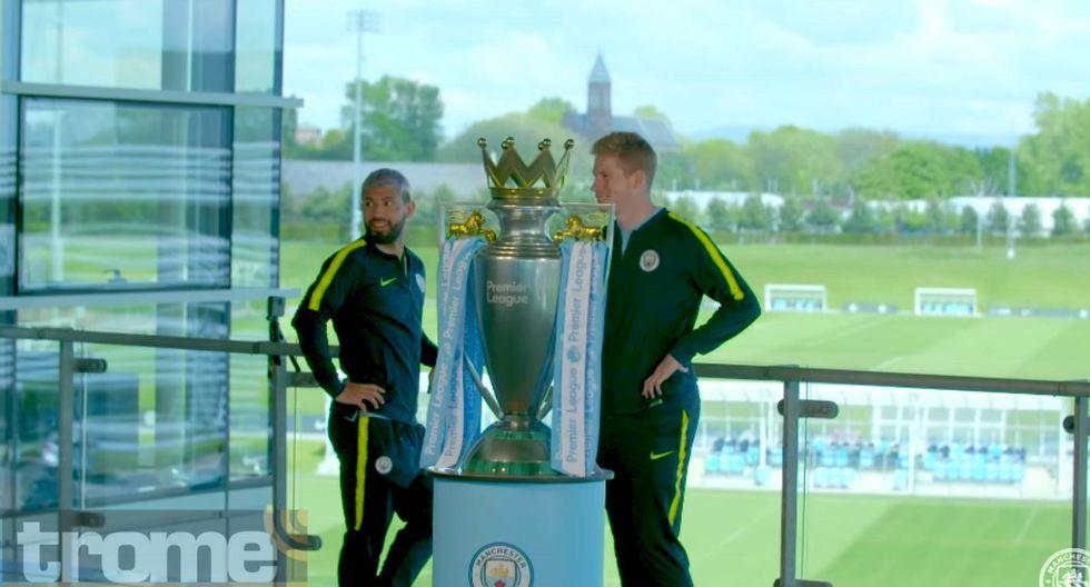 Kun Agüero y Kevin De Bruyne jugaron tremenda broma a los hinchas de Manchester City