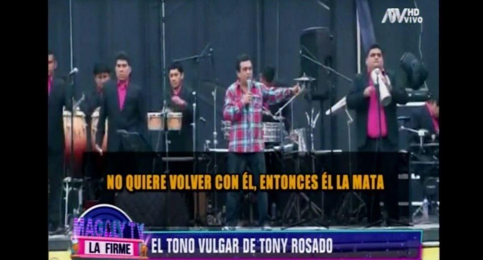 Tony Rosado volvió a justificar su actitud contra la mujer y lanzó frases polémicas.
