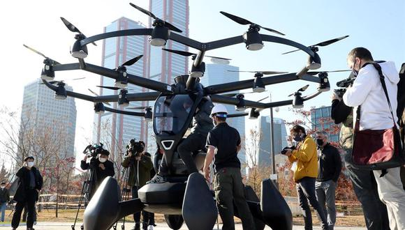 Prueban servicio de taxi aéreo no tripulado al oeste de Seúl. (Foto: EFE)