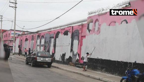 Callao: borran y pintan de blanco los retratos de Las Caras de Atahualpa (Foto: Twitter)