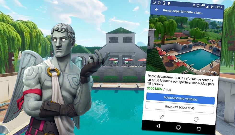 Este usuario de Fortnite estuvo a punto de 'vender' una casa inexistente perteneciente al videojuego más jugado del mundo en estos momentos. (Foto: Facebook)