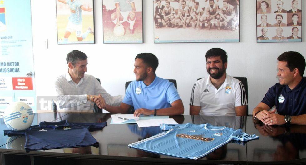 Jhon Marchán presentado como nuevo refuerzo de Sporting Cristal