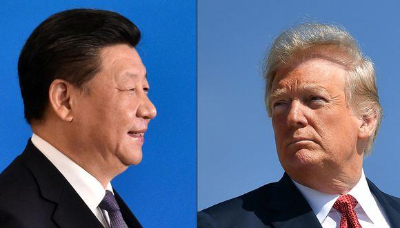 El presidente de China, Xi Jinping, y el presidente de los Estados Unidos, Donald Trump. El ministro de Relaciones Exteriores de Francia, Jean-Yves Le Drian, pidió a Europa no dejarse arrastrar a una guerra fría entre EE.UU. y China. (Foto: AFP/IORI SAGISAWA y MANDEL NGAN)