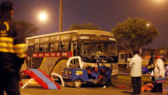 Accidente que dejó dos muertos ocurrió en el kilómetro 17 de la avenida Túpac Amaru en Carabayllo. (Foto: Cesar Grados/@photo.gec)