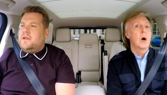 James Corden con Paul McCartney en el Carpool Karaoke. (Foto: YouTube / The Late Late Show)
