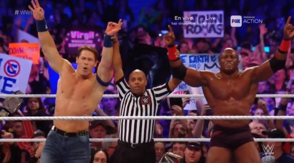 John Cena lució en gran forma en WWE Super Show-Down. (WWE)