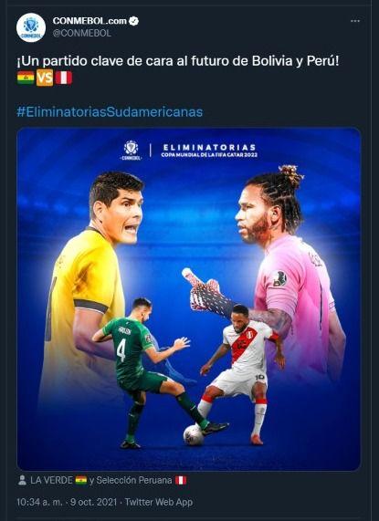 Perú vs. Bolivia (Foto: Conmebol)