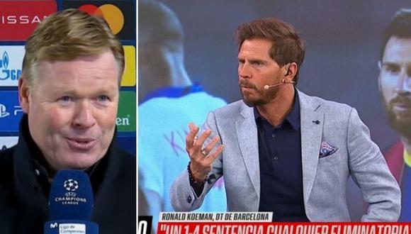 Periodistas de ESPN se indignaron con estas palabras de Ronald Koeman en Champions League