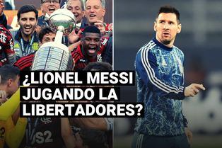 Lionel Messi jugando la Copa Libertadores, el sueño del presidente de la Conmebol