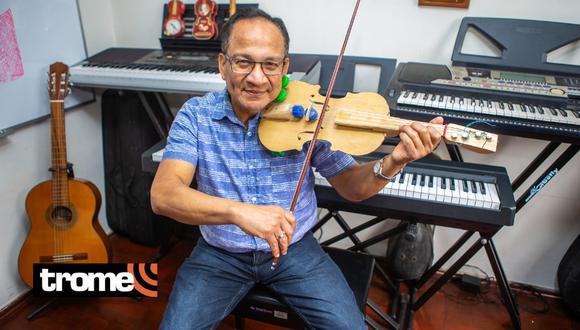 Profesor de música diseñó un violín reciclable