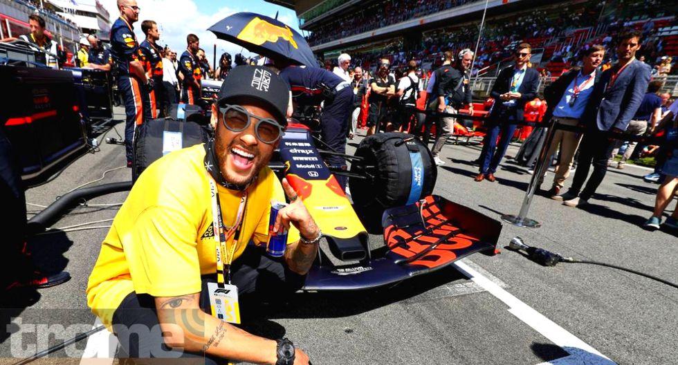 Neymar estuvo de visita en Barcelona para circuito dela Fórmula 1