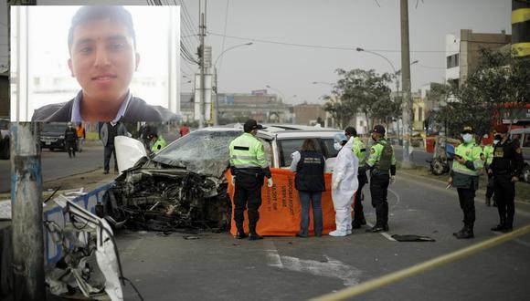 Accidente ocurrió en Comas. Arriba, la víctima. | Foto: Joel Alonzo