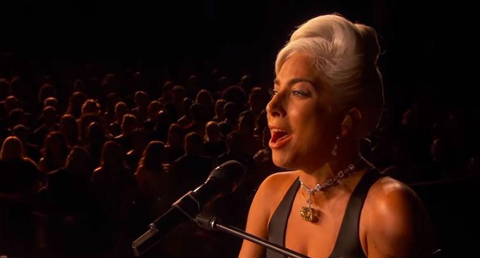 """Lady Gaga y Bradley Cooper interpretaron el tema """"Shallow"""" en la ceremonia de los premios Oscar 2019. (Foto: Captura de pantalla)"""