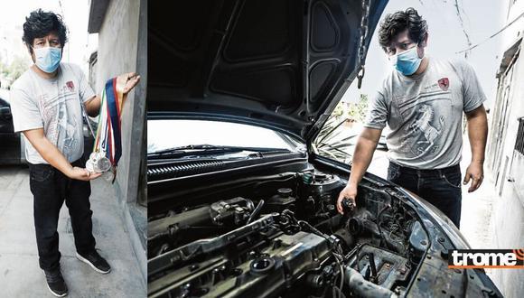 Taxista honrado sufre robo de partes de su auto y hoy pide ayuda.