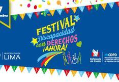 Festival 'Discapacidad con Derechos ¡Ahora!' se realizará este sábado 7 de diciembre en el Parque de La Muralla