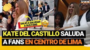 Kate del Castillo ''La Reina del Sur'' graba en Centro de Lima y realiza 'balconazo' para saludar a fans