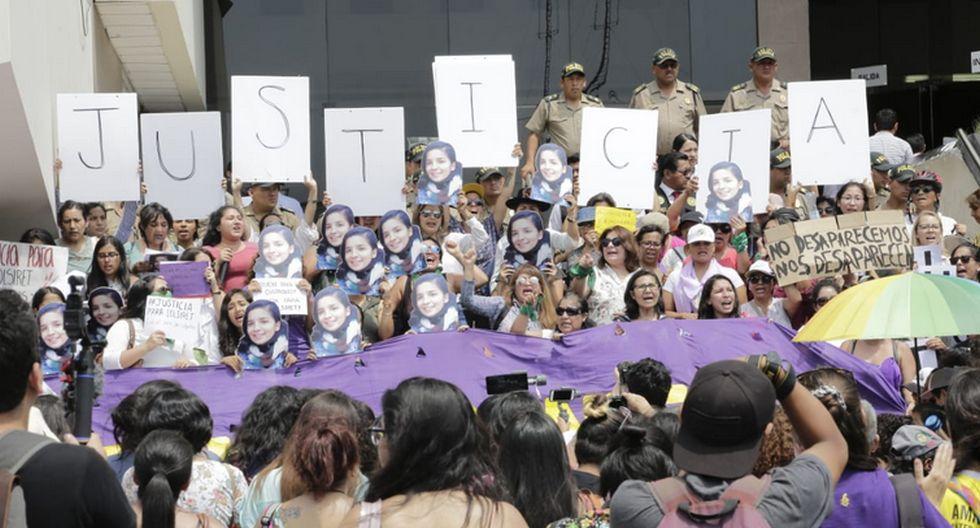 Realizaron plantón para celeridad del caso de Solsiret Rodríguez. (Foto: César Zamalloa/GEC)