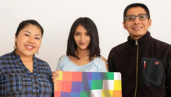 Jenny Quispe, Fany Chura, y Daniel Coronel.