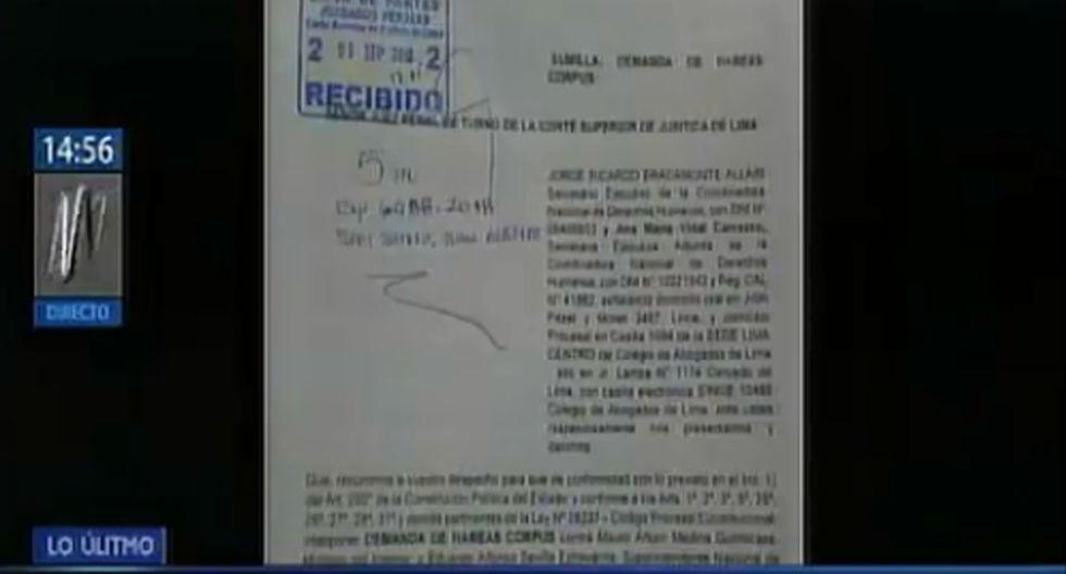 Poder Judicial admitió la demanda interpuesto por la coordinadora de derechos humanos. (Foto: Captura Canal N)