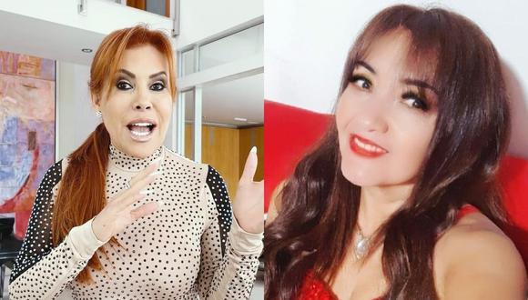 """Magaly Medina y Flor de Huaraz protagonizaron fuerte discusión en """"Magaly TV: La Firme"""". (Foto: @magalymedinav/@flordehuaraz)."""