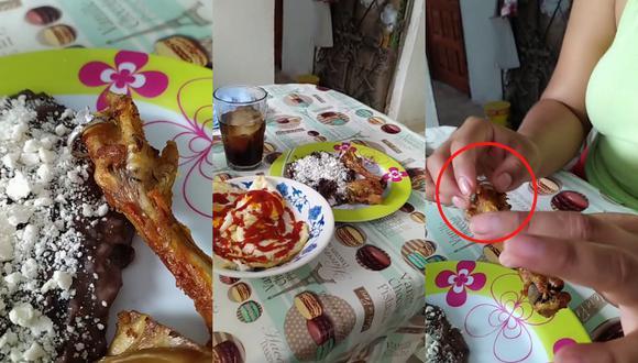 Un video viral muestra la original pedida de matrimonio de un joven a su pareja ocultando el anillo de compromiso en una patita de pollo frita.   Crédito: @juan.arroyo / TikTok.
