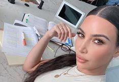 Kim Kardashian publica fotografía estudiando en Instagram
