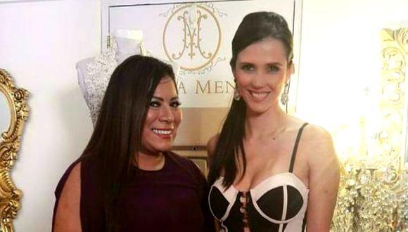 Martiza Mendoza acompañada de Maju Mantilla. (Difusión)