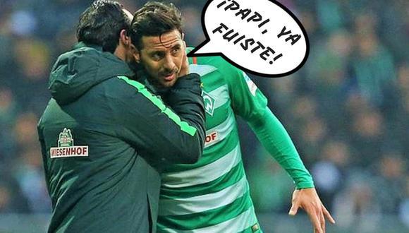 Claudio Pizarro no va más en Werder Bremen