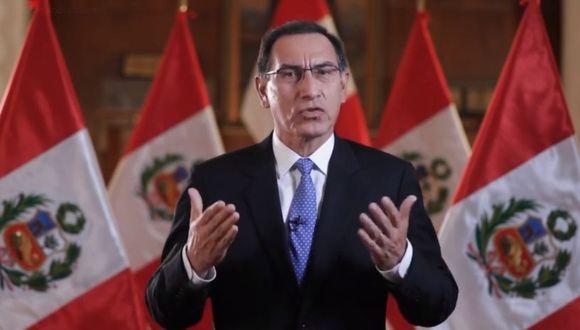 El presidente Martín Vizcarra también se pronunció sobre la intervención en la zona de La Pampa. (Presidencia Perú)