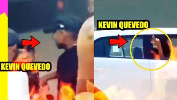 Kevin Quevedo ampayado en fiesta covid, amenaza a periodista (Captura)