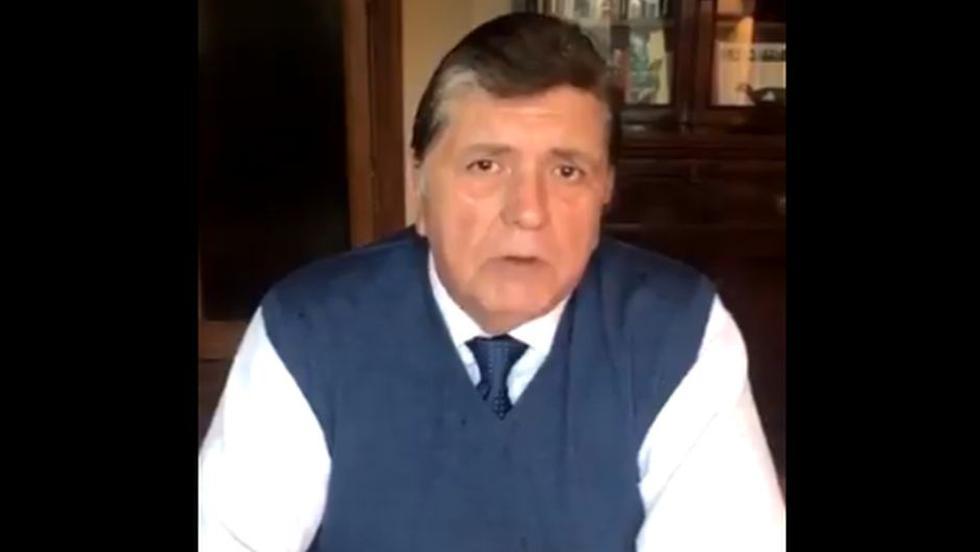 Alan García publicó un video en Twitter en el que niega nuevamente haber recibido directamente aportes de Odebrecht.