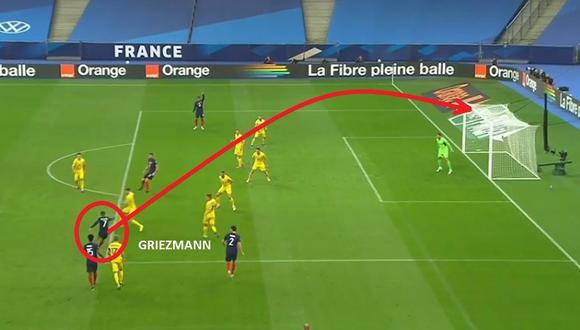 Antoine Griezmann anotó golazo a Ucrania con Francia por Eliminatorias.
