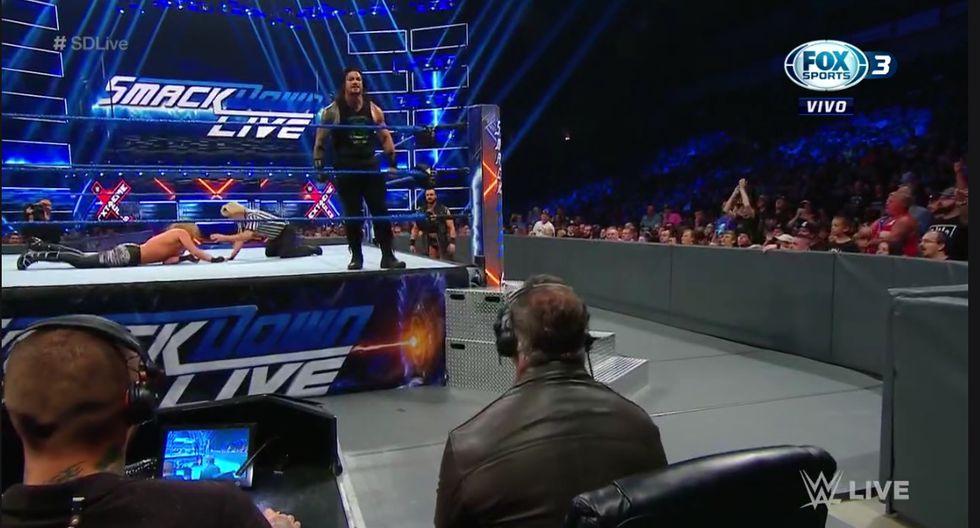 Shane, McIntyre y Elías no se salieron con la suya, gracias a la aparición de 'KO'. (Captura Fox Sports 2)
