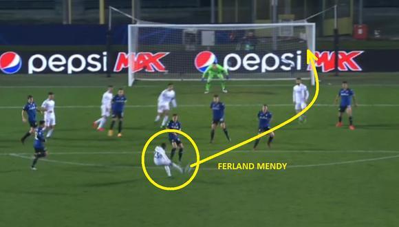 Ferland Mendy le dio la victoria a Real Madrid sobre Atalanta por Champions League
