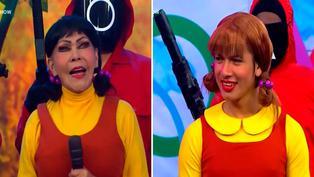 """La Uchulú y la Tigresa del Oriente protagonizan divertido sketch inspirado en """"El Juego del Calamar"""""""