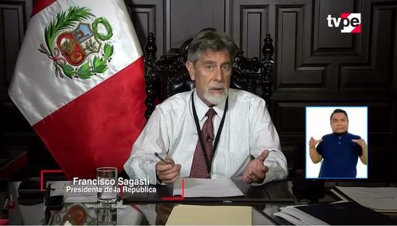 Sagasti anunció medidas para Lima Metropolitana. (Captura TV Perú)