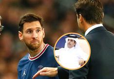 Mauricio Pochettino es 'amenazado' por jeque del PSG tras cambiar a Lionel Messi