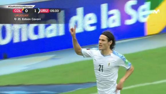 Gol de Edinson Cavani en Colombia vs Uruguay por Eliminatorias Qatar 2022