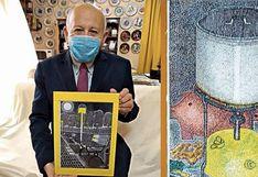 Callao: Abuelito perdió el trabajo y se reinventó para vivir pintando y vendiendo cuadros
