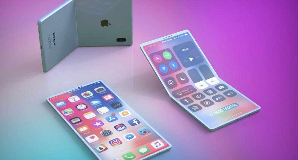 ¿Cómo podría lucir un iPhone plegable? Apple patenta celular. (Foto: Apple)