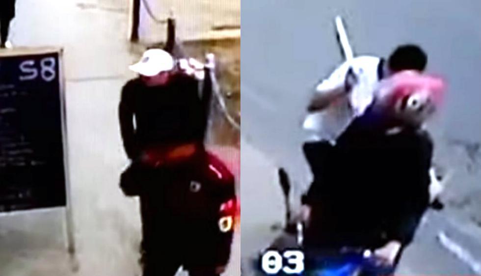 Venezolanos entrar a robar a restaurante pero indignados comensales lo persiguen con cuchillo. Foto: Captura de Buenos Días Perú