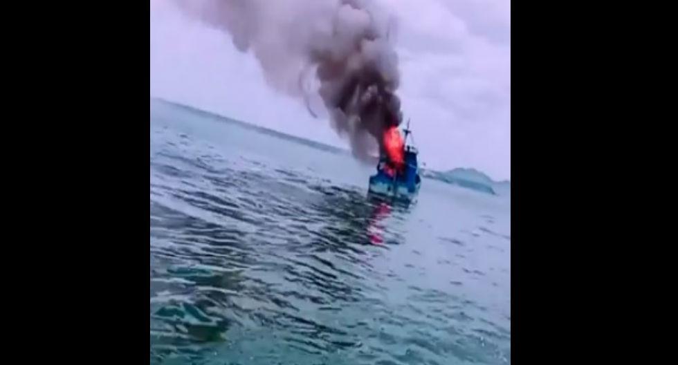 Fuego se propagó rápidamente por toda la embarcación