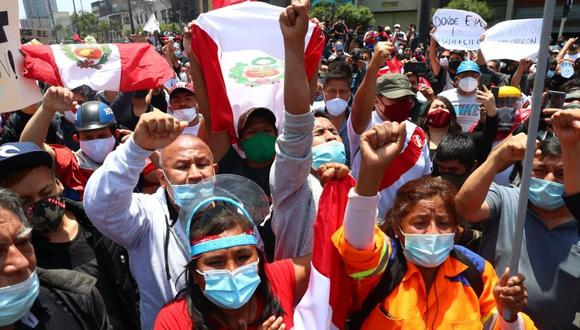 Protestas se trajeron abajo el breve régimen de Manuel Merino. (Foto: GEC)