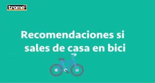 Recomendaciones si sales de casa en bicicleta | VIDEO