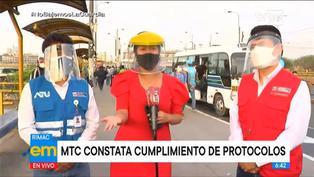 Rímac: se impusieron más de 3000 papeletas a unidades de transporte público por no respetar protocolos