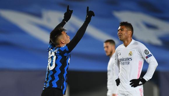 Gol de Lautaro Martínez en Real Madrid vs Inter por Champions League