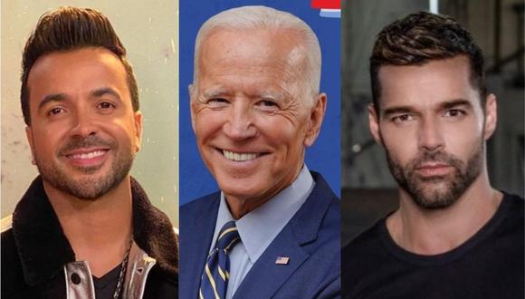 Ricky Martin y Luis Fonsi respaldan al candidato Joe Biden. (Foto: @luisfonsi/@joebiden/@ricky_martin)